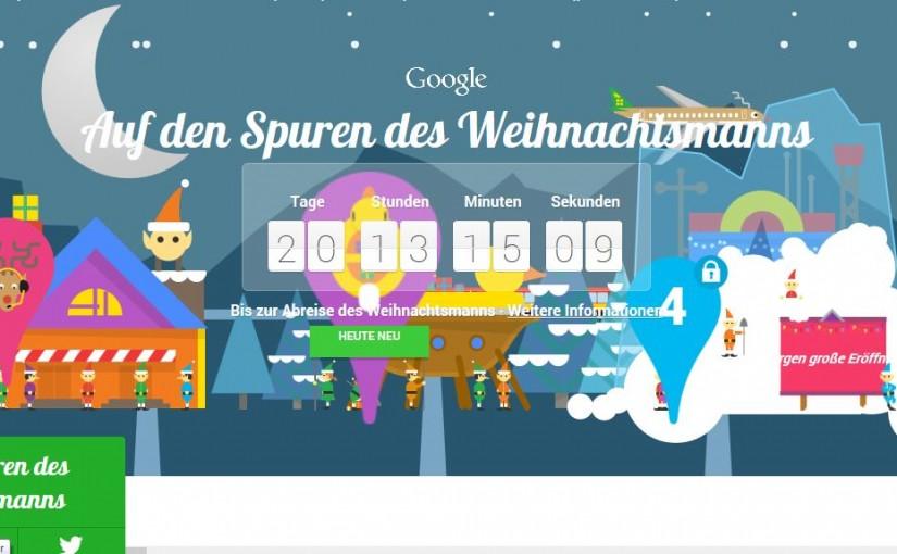 Google Santa Tracker – ein ganz spezieller Google Adventskalender
