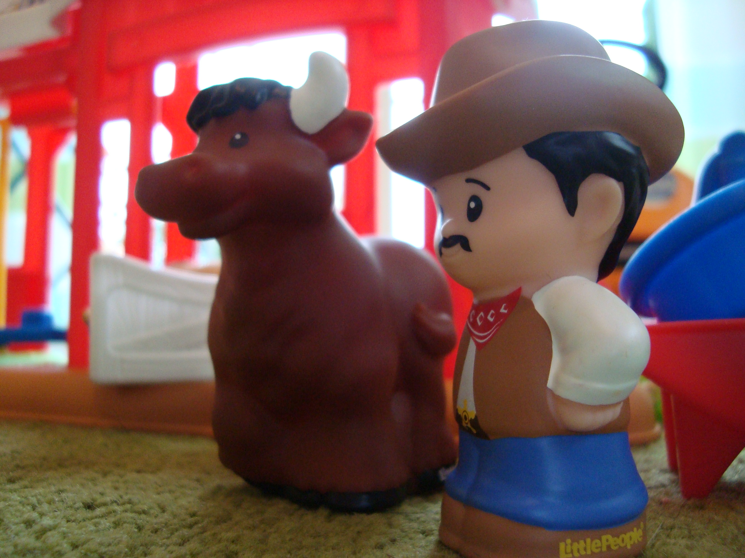 Fisher-Price Little People Cowboy und Stier