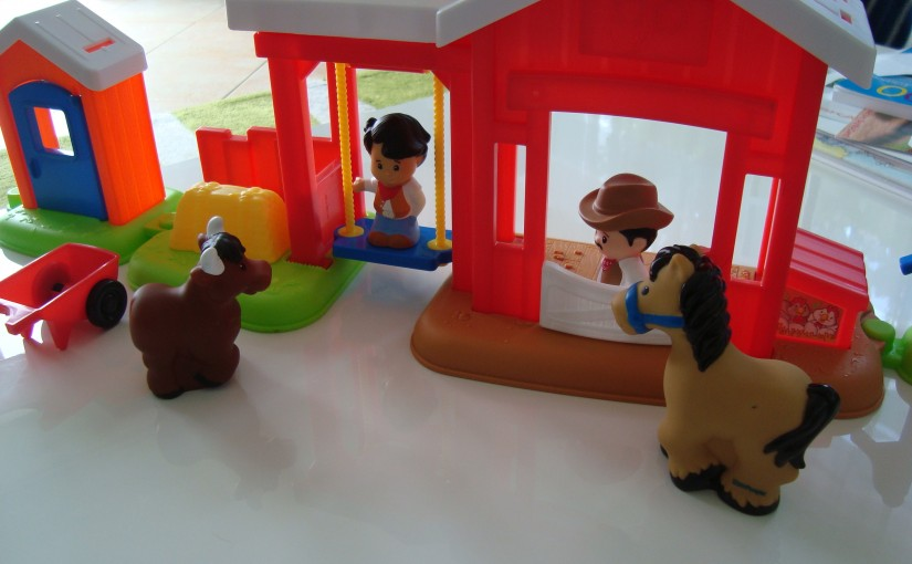 Produkttest Fisher-Price Little People Pferdestall
