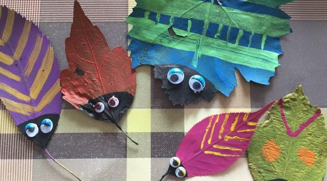 Blätterkäfer basteln – der Herbst kann kommen!