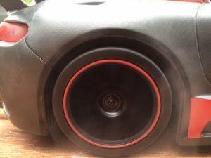 Ein Versuch die rauchenden Reifen zu fotografieren - im Video weiter unten könnt ihr es besser sehen!