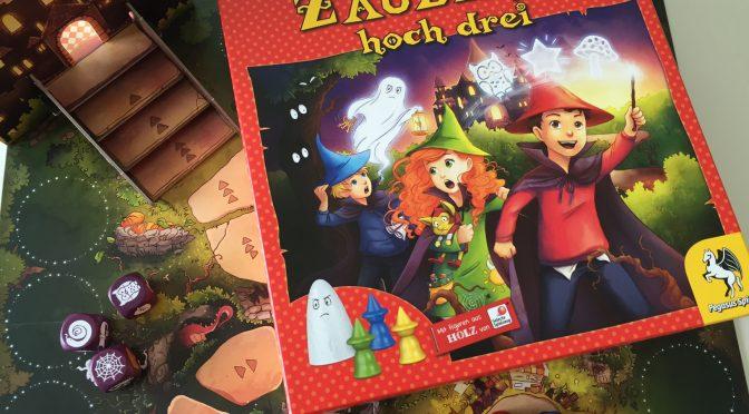 Brettspieltest: Zauberei hoch drei von Pegasus Spiele mit Gewinnspiel