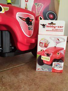 bobby car nummernschild