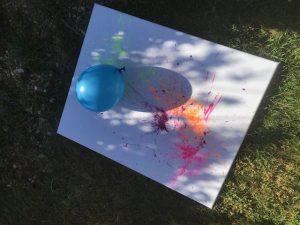 malen mit kindern, handabdruck, unter 3, malen, basteln, sommer, frühling, bunte bilder, luftballonbilder,