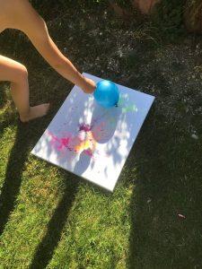 luftballonbilder, platzen, unter 3, farbspiel, buntes bild,