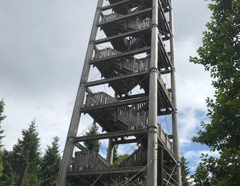 Haidel Aussichtsturm Wandern mit kindern im Bayerischen Wald