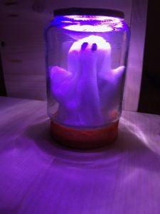 Geisterglas Halloweendekoration