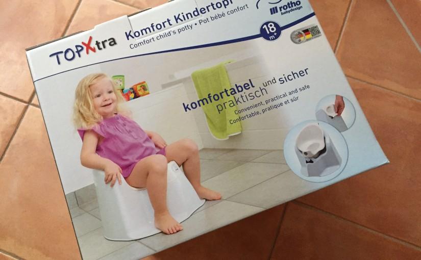 Produkttest TOP Xtra Komfort Kindertopf von Rotho Babydesign babybleu perl/weiß