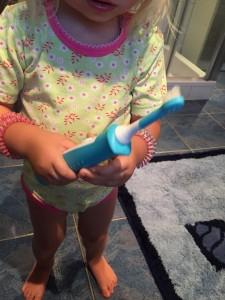 Das Summen und Vibrieren macht die elektrische Zahnbürste interessant...