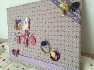Magnetisches Haarklammerboard, haargummi, aufbewahrung, magnetisch, klammer, do it yourself, vorwerk, twercs, made by papa,
