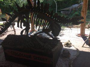 Sonntag stand dann ein Besuch des Dinosaurierparks in Funtana auf dem Plan. Der erste Versuch am Vormittag wurde uns aber durch einen plötzlichen Wolkenbruch verregnet. Wieder zurück, Mittagspause. Nachmittags wurde das Wetter deutlich besser. Aber erst mussten wir noch auf die Ankunft der Großeltern warten. Diese besuchten die Piratenprinzessin nämlich für ein paar Tage.