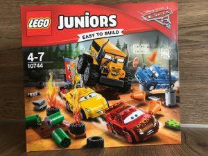 Lego Juniors cars 3 sets, lego juniors ab 4 jahre, lego cars 3, cars 3 disney, lightning Mcqeen, cruz ramirez, jack storm, hooh, luigi pit stopp, miss fritter lego, crazy 8 rennen lego, demolition derby lego