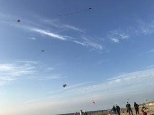 Urlaub auf Texel Drachen fliegen lassen