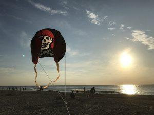 Urlaub auf Texel Drachen steigen lassen