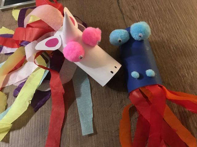 Ideen Fur Das Basteln Mit Klopapierrollen Fur Kinder Von Drachen