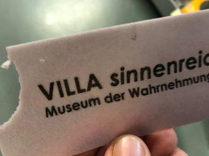 Villa Sinnenreich Eintrittskarte
